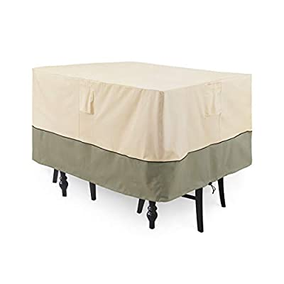 COSFLY Outdoor Furniture Covers for Table and Chairs, Patio Square Table Set Cover Durable and Waterproof - Large Size 56 x 56 x 28 inches (L x W x H)