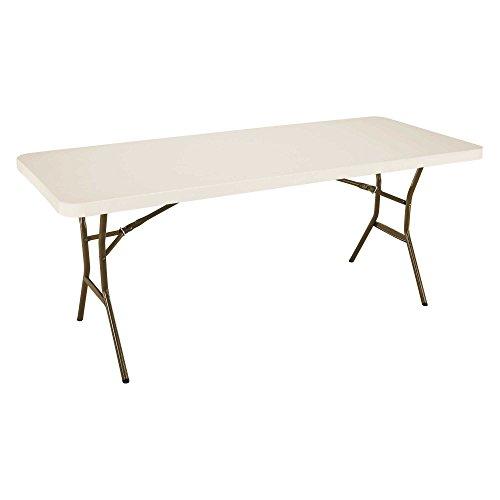 Lifetime 182.88-cm Light Commercial Folding Table (Almond), Amande, 182,9x76,2x73,6 cm
