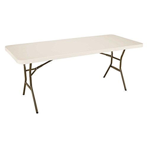 Lifetime 182.88-cm Light Commercial Folding Table (Almond), Amande, 182,9x76,2x73,6 cm