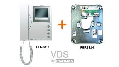 Monitor Loft VDS en Blanco y Negro 3311 con Conector