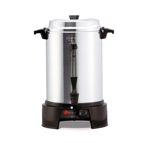 West Bend 13500 55-Cup Polished-Aluminum Commercial Coffee Urn, Silver