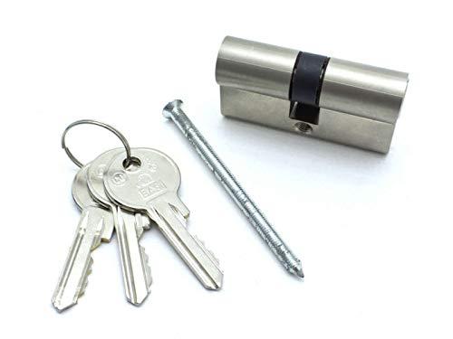 HAFIX Türzylinder Länge 60 mm 30/30 mm inkl. 3 Schlüssel - Profilzylinder für Sicherheit Schließzylinder Doppelzylinder Normalprofil verschiedenschließend.