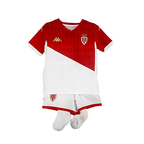 Kappa Kombat Kit Home Monaco Maillots Enfant Blanc/Rouge FR : Taille Unique (Taille Fabricant : 3Y)