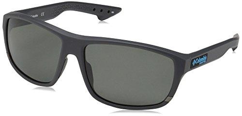 Columbia Gafas de sol ovales polarizadas Airgill Lite para hombres, tibur¨®n mate, 60 mm