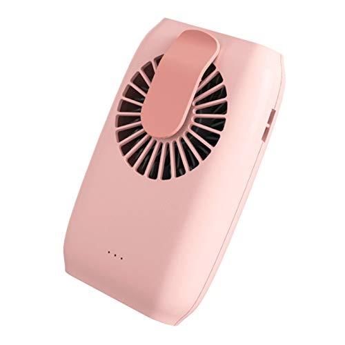 Yosemite Mini USB ventilador personal recargable USB 3 engranajes cuello colgante portátil ventilador de refrigeración de aire 10h tiempo de trabajo para oficina en el hogar - rosa