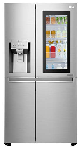 LG 668 L Frost Free Side-by-Side InstaView Door-in-Door Refrigerator(GC-X247CSAV, Noble Steel,...