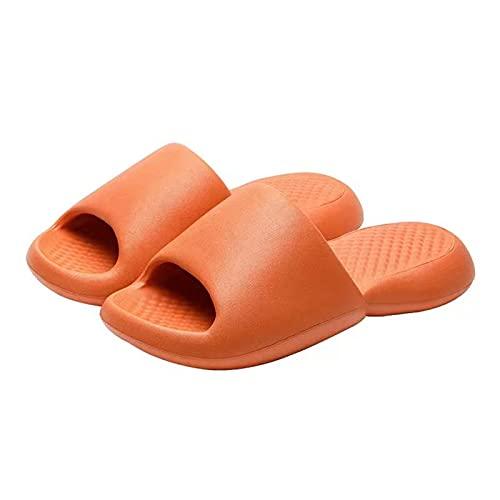 ZPAX Zapatillas ultra suaves con nube, zapatillas de almohada para mujer, naranja, 39/40 EU