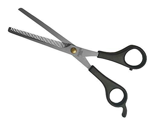 Tijeras de Corte de Pelo Entresacar Adelgazar Descargar Barbero Estilismo Cabello 17 cm