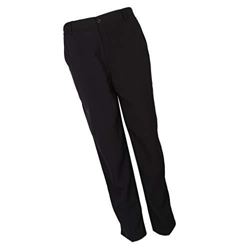SM SunniMix Pantalon de Cuisine Pantalon Élastique de Travail d'Hôtel avec Poches Pantalon de Chef Unisexe Style Bouffant - Noir, m