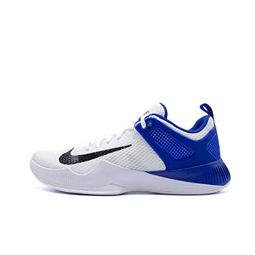 Nike Women's Air Zoom Hyperace Volleyball Shoes White/Black/Game Royal Size 8 M US