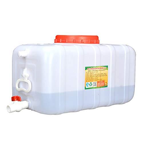 Bidón de agua Cubo de plástico del hogar de calidad alimentaria con una tapa de depósito exterior DROP líder recipiente rectangular durable agua (regalo: válvulas de salida, accesorios de la manguera,