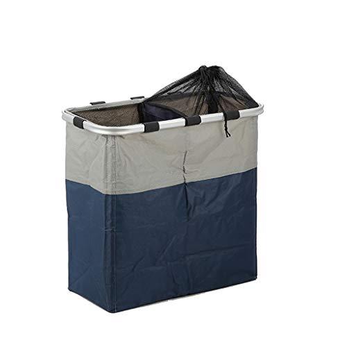 Ropa sucia Almacenaje Canasta de lavandería Plegable Extraíble Canasta de lavandería Soporte de aluminio audaz Canasta de almacenamiento de tela