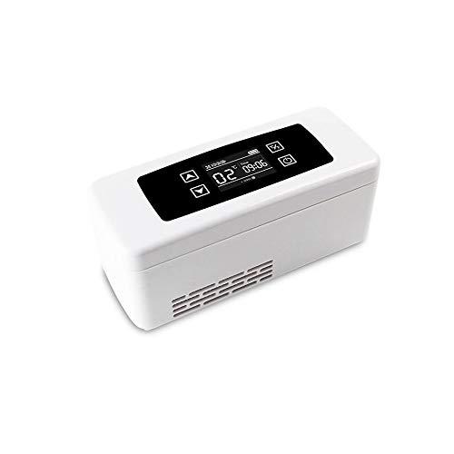 YJDQYDSH Klein Insulin-Kühlbox,Tragbar Aufladen Haushalt Temperatur Mini-Kühlschrank,Impfstoff Droge Transport Medizinisch Car Refrigerator Dauerhaft/Weiß/No battery