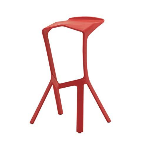 BAR STOOL LHY Chaise de bar créative et tendance avec dossier haut pivotant Tabouret de petit-déjeuner Tabouret de restaurant Tabouret antidérapant (couleur : rouge)