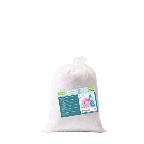 Vaessen Creative Relleno de Fibra de Poliéster Blanco Suave para la Fabricación de Peluches DIY, Cojines y Manualidades, 250gr
