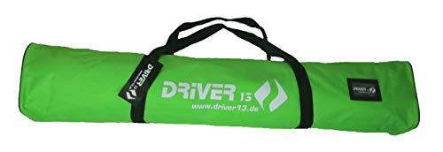 Driver13 ® Kinderskitasche Skisack für Ski Skistoecke, Kids Schitasche zum Aufbewahren und Transport beim Skifahren, wasserfest (auch Snowblades und Bigfoots) grün 120 cm