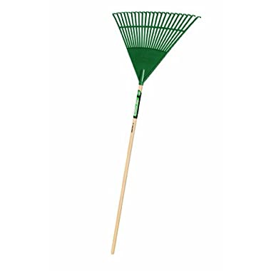Truper 30456 Tru Tough 48-Inch Plastic Leaf Rake, 22-Inch Head, Wood Handle