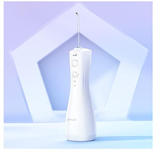 Irrigatore Orale, Idropulsore Dentale Elettrico per la Pulizia dei Denti Enpuly Senza Fili da 250 Ml Con 6 Modalità,Brevetto Antibatterico,Pompa a Membrana Elastica,Ricaricabile,Impermeabile Ipx7
