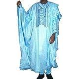 Ofidy African Blue Native 2 Piece Attire (Agbada) (Fabric)