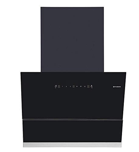 Faber 60 cm 1500 m³/hr angular Kitchen Chimney (HOOD APEX FLHC SC BK 60, Filterless technology, Touch Control, Black)