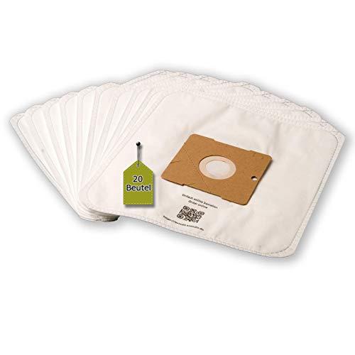 eVendix Staubsaugerbeutel passend für KOENIC KVC 700, 20 Staubbeutel + 2 Mikro-Filter, kompatibel mit Swirl Y101