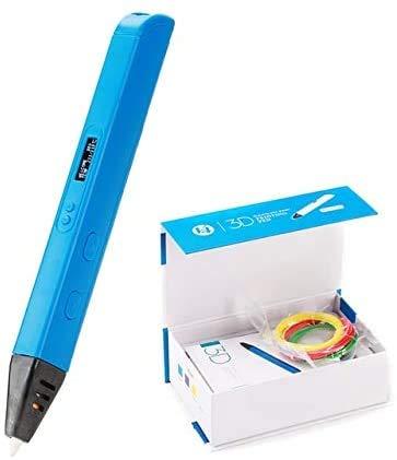 LINANNAN 3D-Druckstift für Kinder, 3D-Zeichenstift, Malerei, Spielzeug, anwendbares ABS/PLA-Filament-Material (Farbe: RP800A Blau)