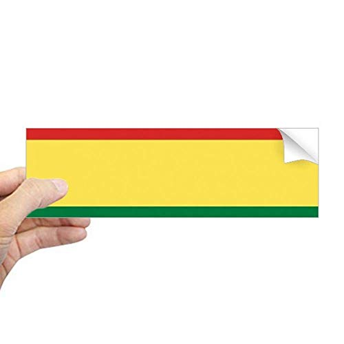 DIYthinker Bolivia Vlag Land Symbool Mark Patroon Rechthoek Bumper Sticker Notebook Window Decal