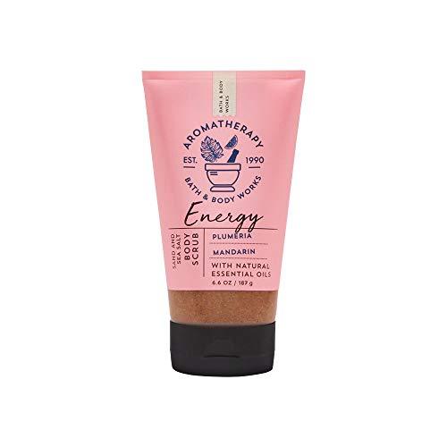 Bath & Body Works Aromatherapy Energy Plumeria Mandarin 6.6 oz Sand & Sea Salt Body Scrub
