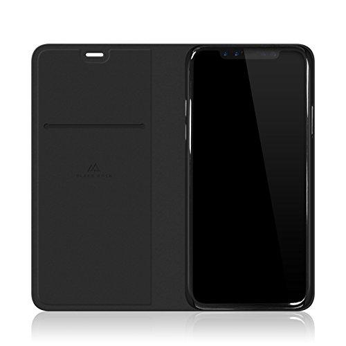 Black Rock - Flex Carbon Booklet Hülle für Apple iPhone X | Handyhülle, Schutzhülle, Silikon, Soft, TPU, Fiber Cover (Schwarz)
