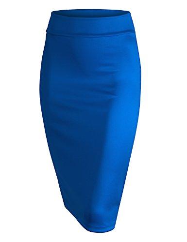 MBJ WB700 Womens Scuba Midi Skirt L Royal_Brite