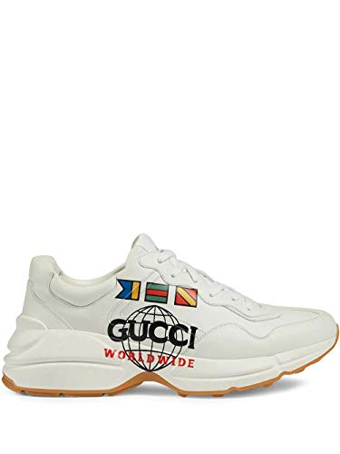 Luxury Fashion | Gucci Heren 599146DRW009014 Wit Leer Sneakers | Lente-zomer 20