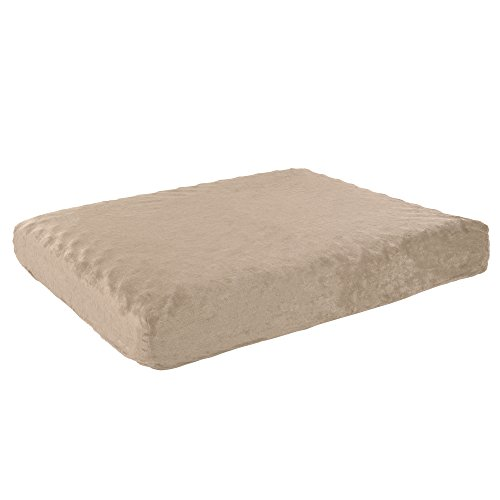 PETMAKER Orthopedic Pet Bed - Egg Crate and Memory Foam with Washable Cover 26x19x4 by Tan