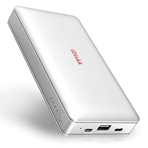 iDiskk MFi-Zertifikat 1TB Externe Festplatte für iPhone iPad Flash Speicher Kompatibel iOS Handy MacBook PC mit 10000mAh Powerbank 2 in 1 Externe Festplatte - APP Verwaltung
