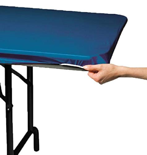 Creative Converting Plastic Stay Put Banquet Table Cover, 29 by 72-Inch, Royal Blue