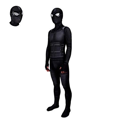 WOLJW Spandex Adult Superhero Role Spiderman Stealth Suit Kostuum Kinderen, Bodysuit Jumpsuits Kleding Movie Prop Verwijderbaar Masker
