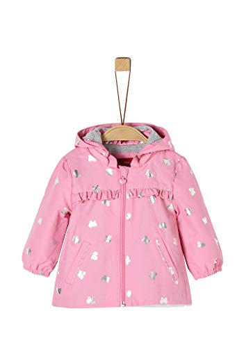 s.Oliver RED LABEL Unisex - Baby Mantel mit Schmetterling-Motiv pink 80