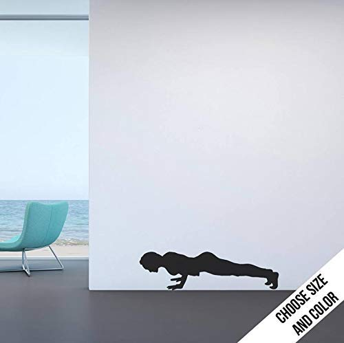 Novelty Wall Decor Woman Push Ups Cross Fit Plank Exercise Sports Workout Vinyl Verwijderbare Mural Wall Sticker