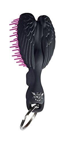 Hair Angel Mini brosse douce avec porte-clé Noir/rose