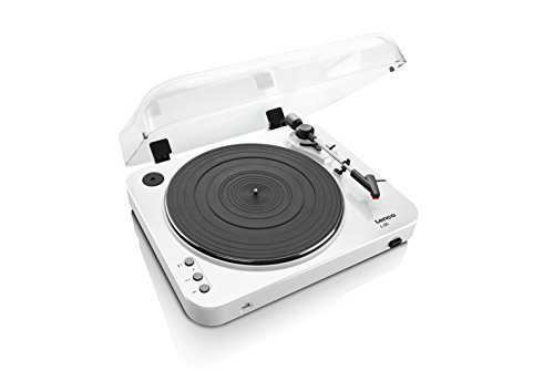 Lenco L-85 Turntable with USB Direct Recording - White by Lenco