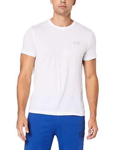 Emporio Armani EA7 Jersey T-shirt 3GPT51PJM9Z-0100 heren T-shirt, Birko (M, wit)