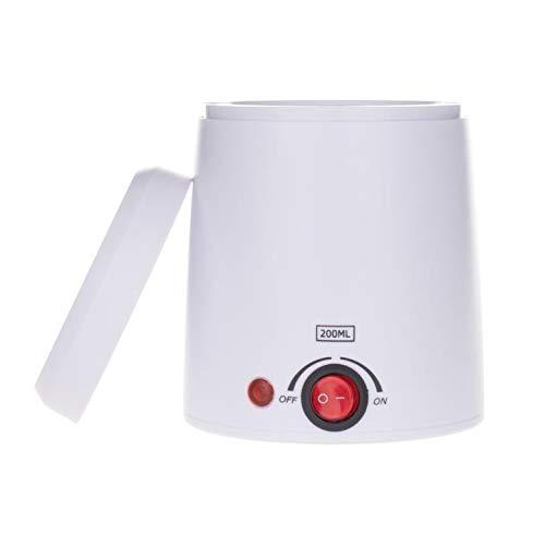 Calentador De Cera, Máquina De Derretir Cera, Kit De Depilación, Depilación, Olla De Cera, Fundidor De Cera, Depilación Con Cera De 200CC,Blanco