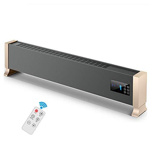 LIZONGFQ Riscaldatore battiscopa 2000W Riscaldamento rapido con termostato Alluminio Riscaldatore radiante Riscaldatore Smart Telecomando Riscaldamento a Risparmio energetico