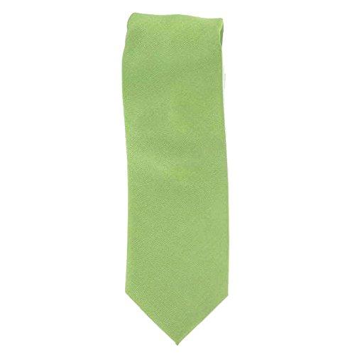 Cotton Park - Cravate 100% soie verte - Homme