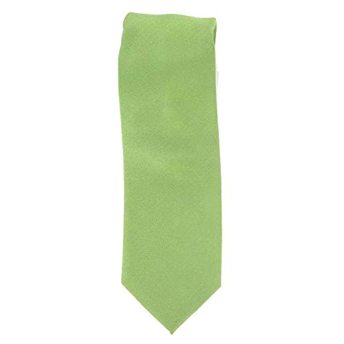 Cotton Park - Cravate 100% soie verte - Homme