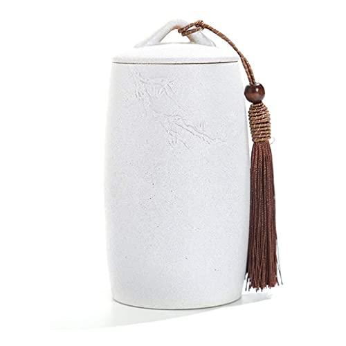 Urnas para Cenizas, Funeral Urna Cremation Ashes URNS, fúnebre conmemorativo Recuerdo Ceramic Memorial Jar para Adulto, Mascota, Gato, Perro, decoración del hogar (Color : White)