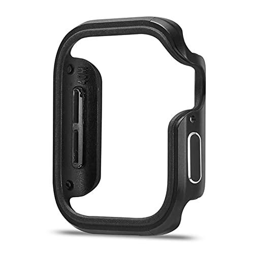 GZMYDF Nuevo diseño de aleación de Aluminio + Funda TPU para la Serie de Apple Watch SE Serie 6 5 4 Funda de 44 mm 40 mm Cáscara Parachoques para el Marco del iWatch
