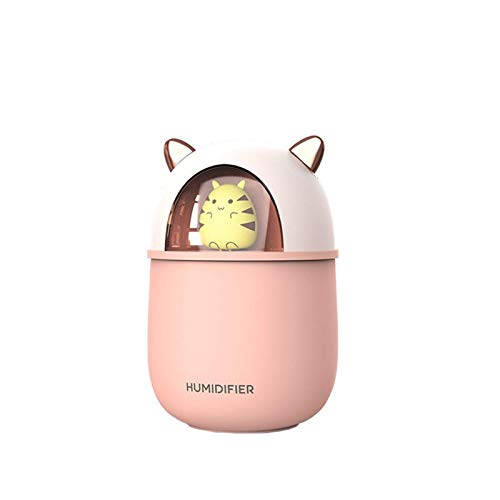 Xinmeimaoyi Aerosol para automóvil peque?o Cute Pet Ultrasonic Mini Desktop Silent Humidifier, Portable Facial Hydrating Instrument Humidificador purificador de aire Luz nocturna para dormitorio Ofici