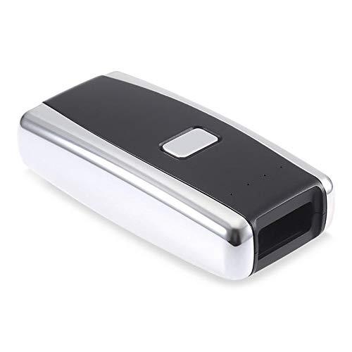 HttKse Scanners de Codes à Barres Portable Précis 2D Red Light Scanner Lecteur Mini Barcode Bluetooth sans Fil avec USB Rechargeable précision de numérisation (Color : Black, Size : 8x4x2cm)