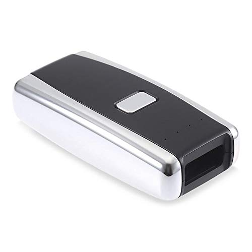 Scanner de Codes à Barres Portable 2D Red Light Scanner Lecteur Mini Barcode Bluetooth sans Fil avec USB Rechargeable (Couleur : Noir, Taille : 8x4x2cm)