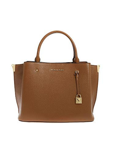 Luxury Fashion | Michael Kors Dames 30F9GI5S3L230 Bruin Leer Handtassen | Herfst-winter 19